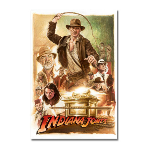 INDIANA JONES and the TEMPLE of DOOM Movie Silk Canvas Poster 13x20 24x26 inch