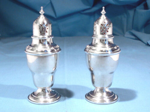 GORHAM STERLING SALT & PEPPER SET #1284 ~ RONDO ~ NO MONO