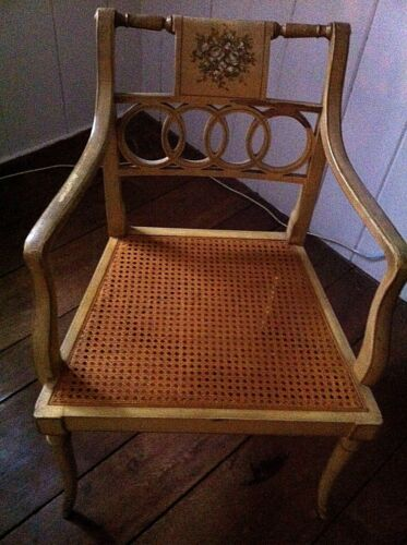 """BAKER """"GOVERNOR ALSTON"""" REGENCY STYLE ARM CHAIR"""