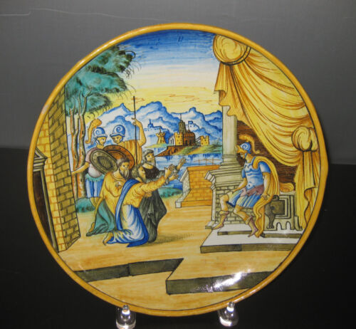 """18th CENTURY ITALIAN HAND PAINTED, HAND MADE CHARGER 11.5"""""""