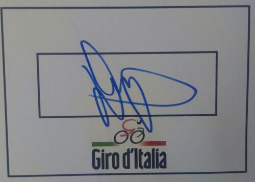 Daryl Impey SIGNED Giro d'Italia cycling card. Two-time Tour Down Under winner!