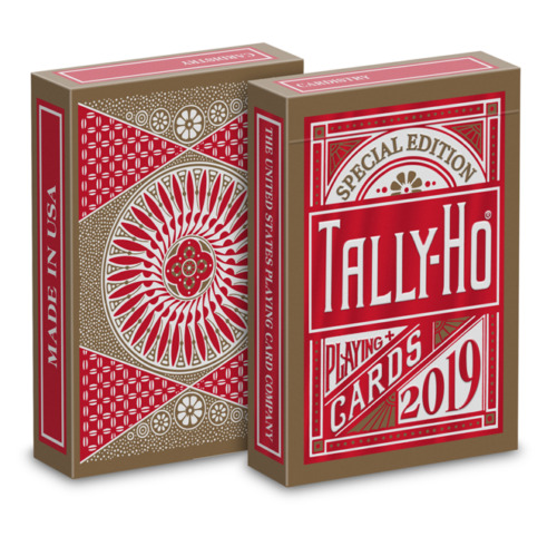 1 DECK Tally Ho Special Edition Red-Gold Cardistry playing cards WITH CONTEST!