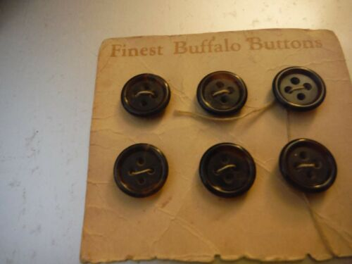 Vintage / Antique genuine buffalo horn buttons