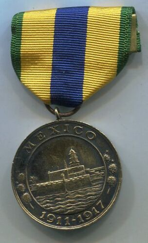 US Navy mexico CAMPAIGN Service Medal Vintage 'Studley' Thick MedalReproductions - 156372