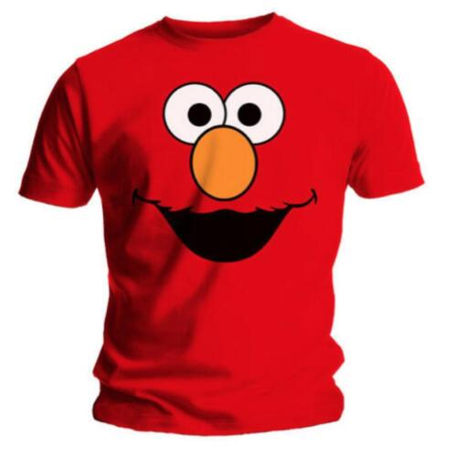 Sesame Street Elmo Face Red Mens T Shirt L Large Size New Official Merchandise