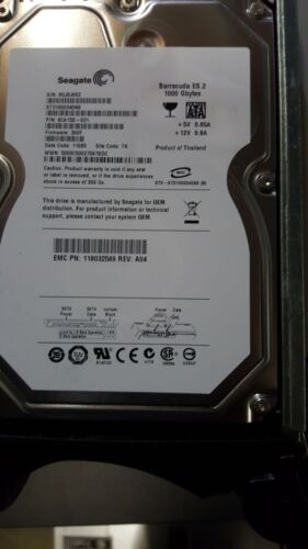"EMC 1TB 118032589 SATA 7.2K 3.5"" ST31000340NS hard drive with Tray 9CA158-031"