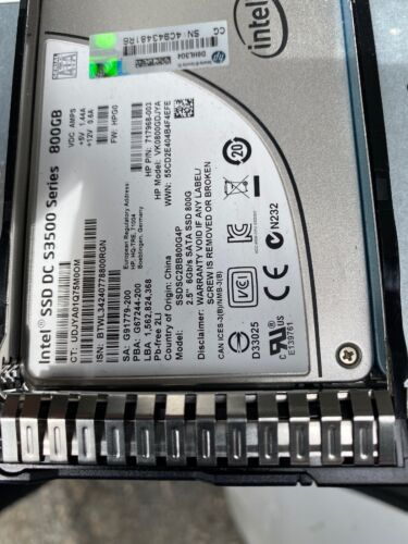 """2.5/"""" HP DL325 Gen10 DL560 Gen10 Hard Drive Caddy SSD Tray with chip LED"""