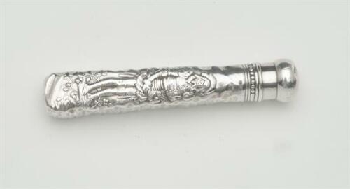 Rare Antique Fontainebleau by Gorham Scent or Snuff Vial, Sterling Silver