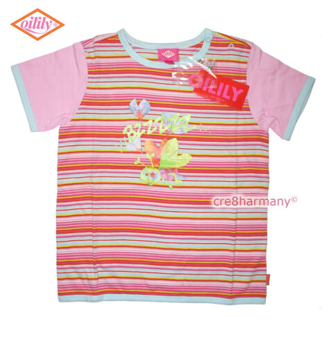Oilily ✿ NWT ✿ Girls Pink Stripes Printed BEE Top Tee 104 ✿ 4 - 5 ✿ Designer
