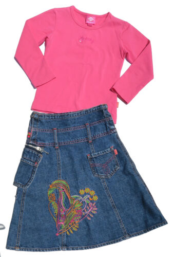 Oilily ✿ Girls Top ✿ Embroidered Denim Skirt  ✿  4 yrs - Euro 104