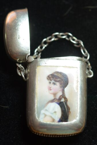 Victorian Silver and Enamel Match Safe