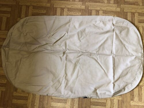 Dog Bed Replacement Cover Oval Tan with Zipper New