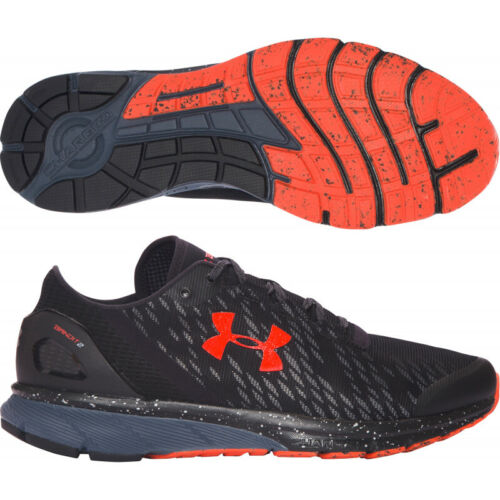 Men's Under Armour UA Charged Bandit 2 Night Black Mesh Running Shoes Trainers