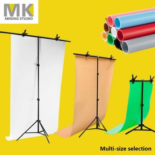 Backdrop Support Stand PVC Photography Photo Studio Background +Clamp Multi-size