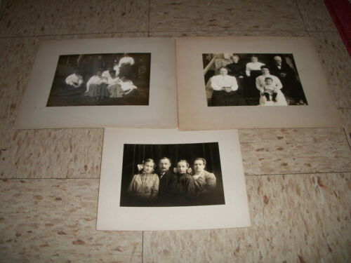 Lot of Antique Cabinet Card Photos Victorian Family pictures Massachusetts MA