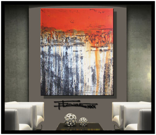 ABSTRACT PAINTING Modern Canvas Wall Art Framed Large US  ELOISE