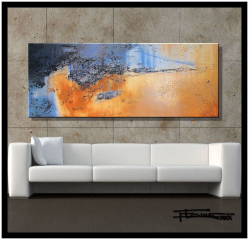 ABSTRACT PAINTING MODERN CANVAS WALL ART 60 Textured, Framed, Signed  ELOISExxx