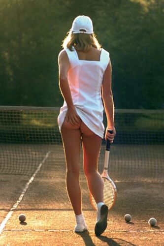 CHEEKY TENNIS GIRL - SEXY PINUP POSTER 24x36 - HOT MODEL 50684