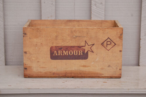 Old Vintage Antique Primitive Armour Wood Wooden Box Argentina Country Decor