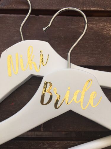 DIY Personalised Wedding Coat Hanger TOP DECAL ONLY position in wedding OR name