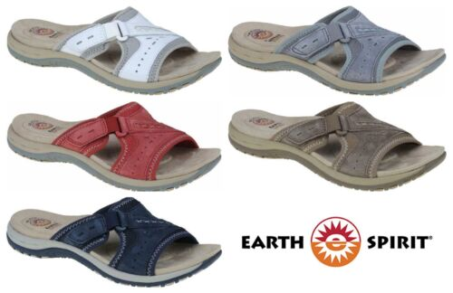 Earth Spirit Lakewood Leather Touch Fast Slip On Comfort Sandals NEW SEASON