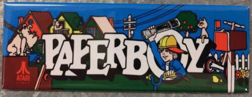 Top Holiday Gifts Paper Boy Arcade Game Marquee Fridge Magnet
