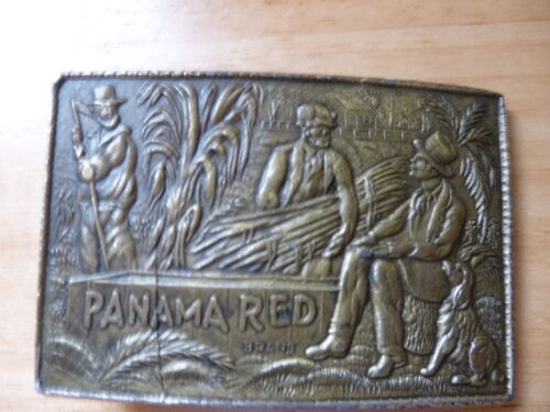 PANAMA RED ADVERTISING BUCKLE BRASS AND RARE