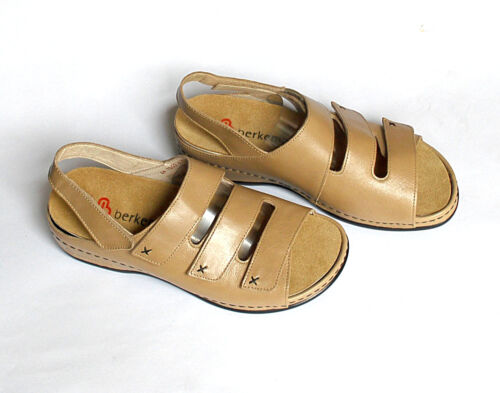 Berkemann Lena Womens Leather Sandals Comfort/Easy/Walking/Shoe 4.5 (UK) Beige