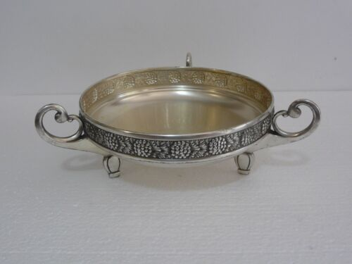 "Beautiful Rare Silverplated Brass ""WMF"" Art Nouveau Footed Bowl / Planter 1910's"