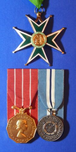 BRITISH MEDAL GROUP LT COL RCAFR CANADIAN DECORATION ORDER OF ST LAZARUS  AB0018Medals, Pins & Ribbons - 156422