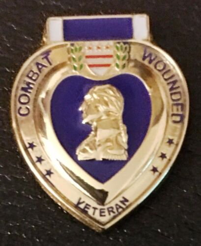 PURPLE HEART COMBAT WOUNDED VETERAN HAT LAPEL PIN/NEW AND UNIQUE/ONE OF A KIND!Other Militaria - 135