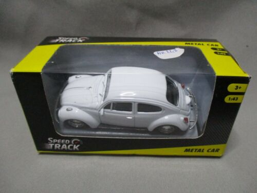 AK248 SPEED TRACK WELLY 1/43 VOLKSWAGEN VW NEW BEETLE BLANC REF TY68204 BON ETAT