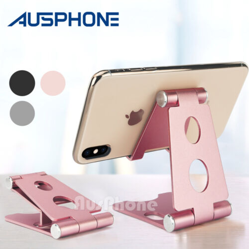New Aluminum Phone Stand Holder Home Office Desk Desktop For iPhone Cellphone