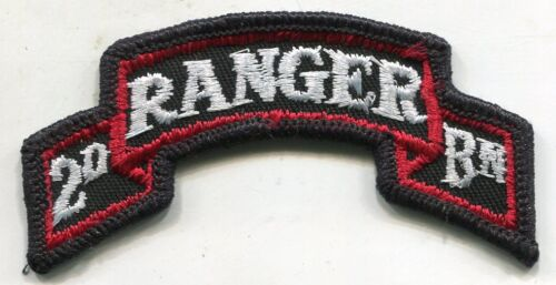Vintage US Army 2nd Ranger Bn COLOR Patch TabPatches - 36078