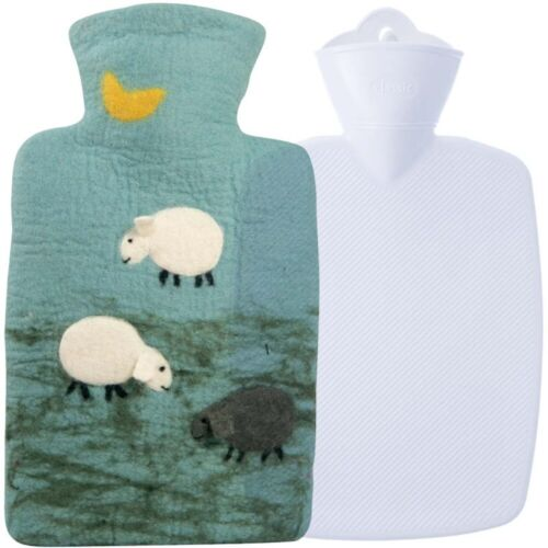 Hugo Frosch Classic Hot Water Bottle Wool Cover Sheep 1.8L