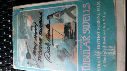 IN SEARCH OF TUBULAR SWELLS LONGBOARDING SURF SURFING VHS TAPE SIGNED DICK HOOLE