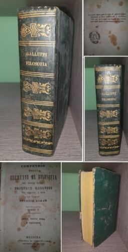 FILOSOFIA. BARONE P.GALLUPPI 1842. 3 VOL.