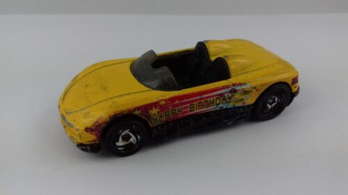 Voiture hot wheels MX48 turbo happy birthday 2000 1/64