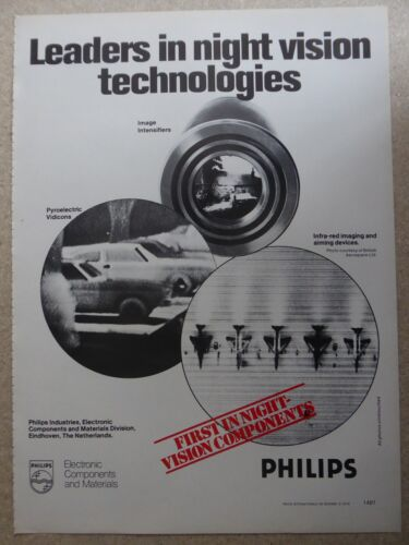 9/1979 PUB PHILIPS ELECTRONIC NIGHT VISION NOCTURNE INFRA RED ORIGINAL AD