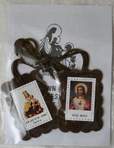 Brown Scapular and Leaflet - Tracked Postage