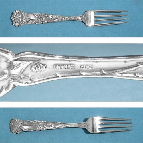 "ALVIN STERLING 6 1/4"" YOUTH / TEA FORK ~ BRIDAL ROSE ~ NO MONO"