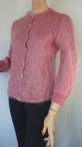 SIZE-10, AVOCA Gorgeous Mohair Cardigan With Wool Hem of Sleeve.