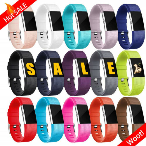 Fitbit Charge 2 Bands Replacement Silicone Wristband Watch Strap Bracelet Sport <br/> Buy 2 Get 1 Free! A variety of colors to choose from