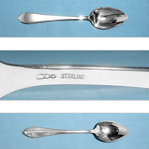 """DOMINICK & HAFF STERLING 6 1/8"""" TEASPOON(S) ~ POINTED ANTIQUE ~ NO MONO"""