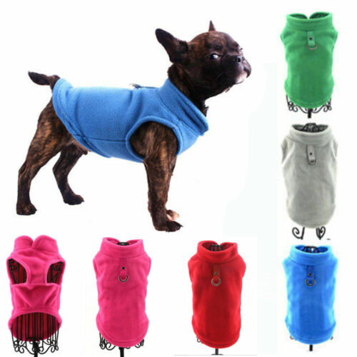 New Pet Dog Fleece Harness Vest Jumper Sweater Coat for Small Medium Dogs Jacket