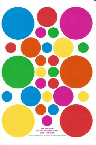 RARE - Yayoi Kusama Obliteration Room Sticker Sheet New Zwirner Gallery 2017
