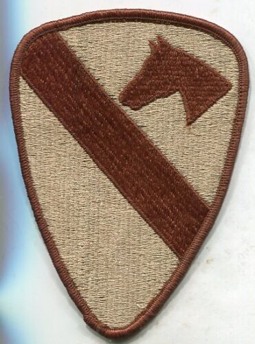 US Army 1st Cavalry Division uniform Desert Tan DCU 5 inch patch Merrowed EdgeArmy - 66529