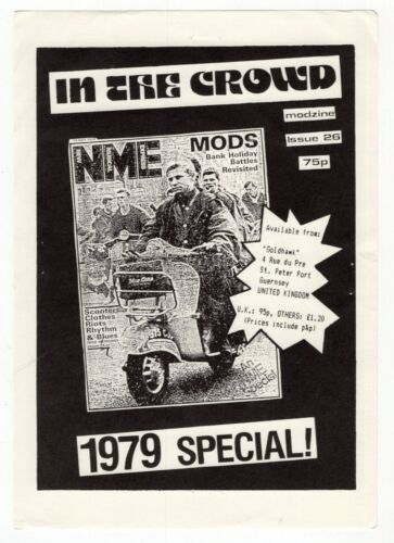 """1979 UK Ad Flyer: """"New Musical Express"""" [NME] Modzine - Issue # 26"""