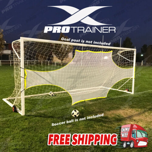Pro Precision Training Football AID Soccer Target Practice Shot Goal Net