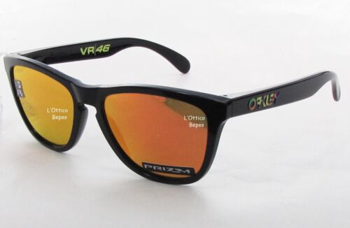 OAKLEY mod.FROGSKINS 9013 E6 55 POLISHED BLACK Lenti PRIZM RUBY